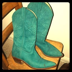 Shoes - Turquoise Western-Inspired Cowboy Boots